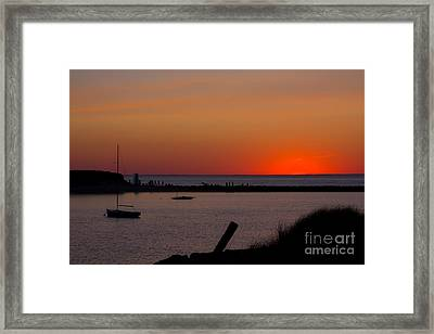 Evening Harbor Silhouette Framed Print by Douglas Armstrong