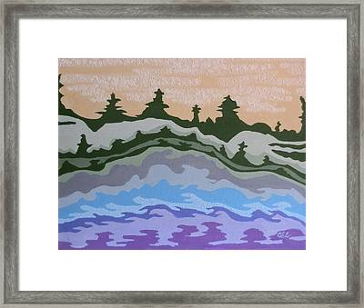 Evening Impressions Framed Print by Carolyn Cable
