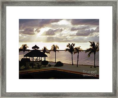 Evening In The Keys - Key Largo Framed Print