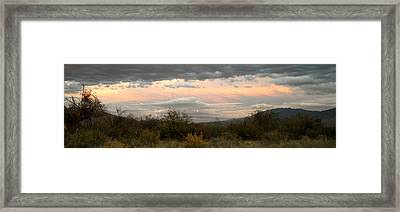 Framed Print featuring the photograph Evening In Tucson by Kume Bryant