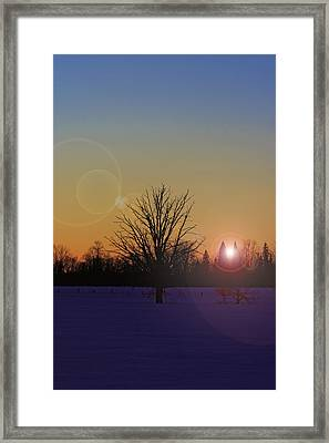 Framed Print featuring the photograph Evening by Josef Pittner