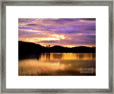 Framed Print featuring the photograph Evening Lake Britton by Irina Hays