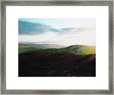 Evening Landscape Towards Llangollen Framed Print