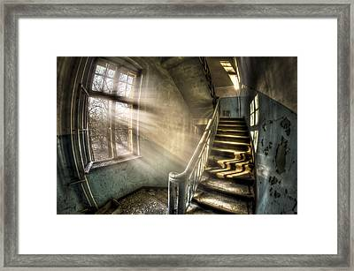 Evening Light Cooming In Framed Print by Nathan Wright