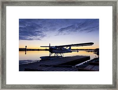 Evening Light On A Dehavilland Beaver Framed Print