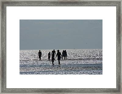 Evening Ocean Stroll Framed Print