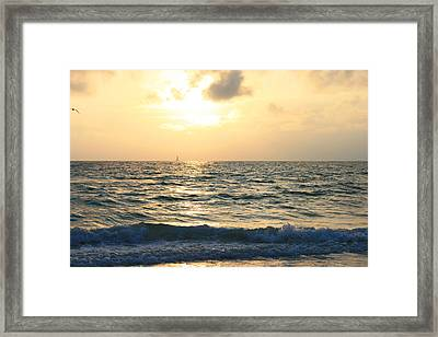 Evening On Clearwater Beach Framed Print by Georgia Fowler