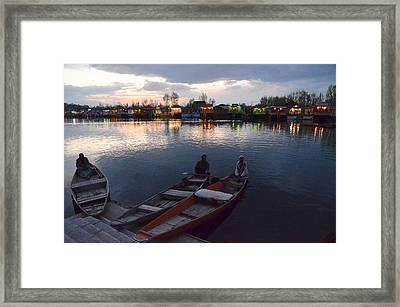 Evening On Dal Lake Framed Print