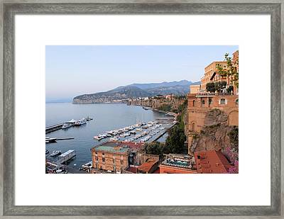 Evening On The Bay Framed Print by