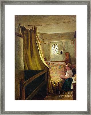 Evening Prayer  Framed Print by John Bagnold Burgess