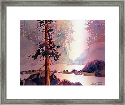 Evening Quiet Framed Print