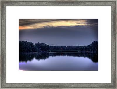 Evening Reflections Framed Print by Barry Jones
