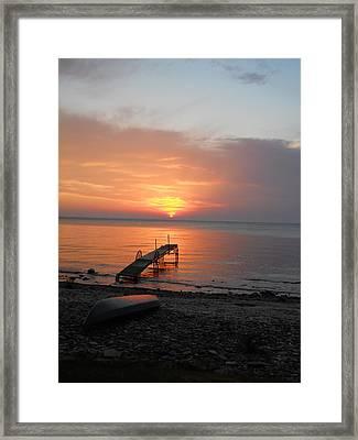 Evening Rest Framed Print