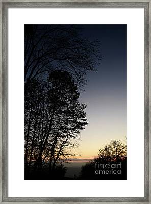 Evening Silhouette At Sunset Framed Print
