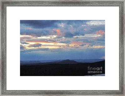 Evening Sky Over The Quabbin Framed Print by Randi Shenkman