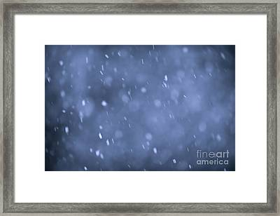 Evening Snow Framed Print