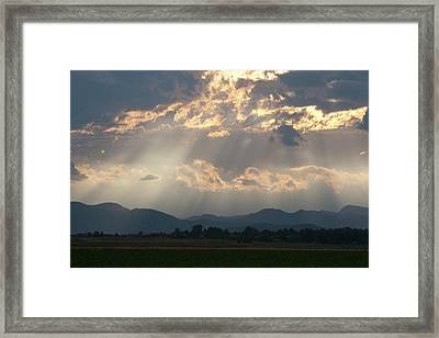 Evening Storm Clouds Framed Print by Renee Skiba