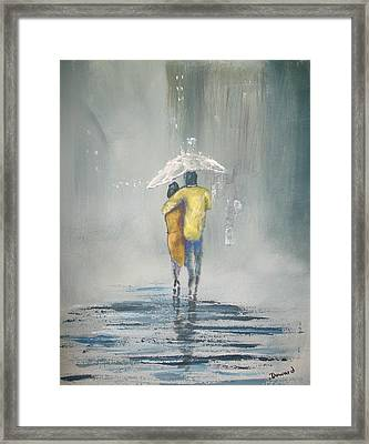 Evening Stroll Framed Print by Raymond Doward