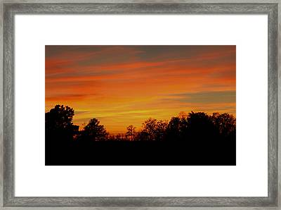 Evening Sun Framed Print by Karen Harrison