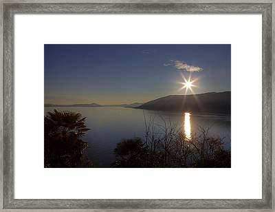 evening sun over the Lake Maggiore Framed Print by Joana Kruse