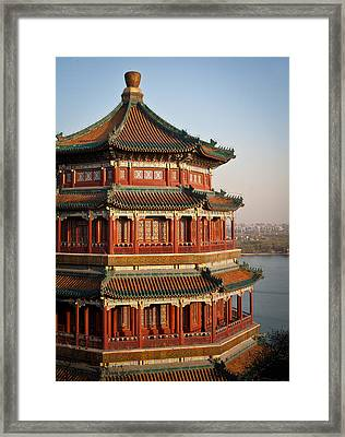 Evening Temple Of The Fragrant Buddha Framed Print by Mike Reid