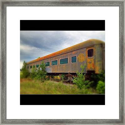 Evening #train To Nowhere Framed Print