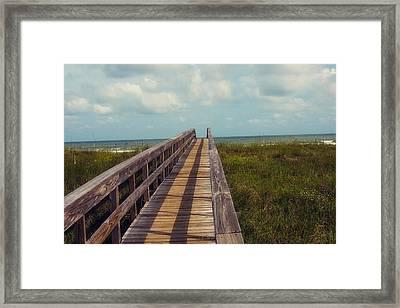 Evening Walk To The Beach Framed Print by Toni Hopper