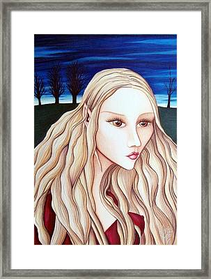 Framed Print featuring the drawing Eventide by Danielle R T Haney