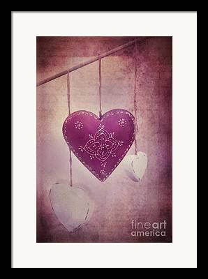 Purple Hearts Framed Prints