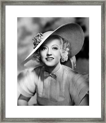 Ever Since Eve, Marion Davies, 1937 Framed Print