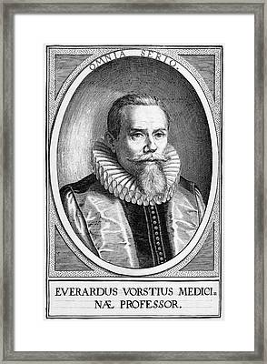 Everardus Vorstius, Dutch Physician Framed Print by Middle Temple Library
