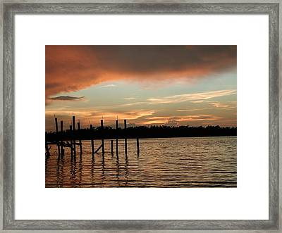 Everglades Sunset Framed Print by Nancy Taylor