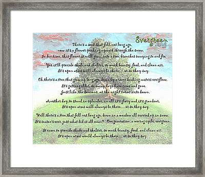 Evergreen Framed Print by Cristophers Dream Artistry