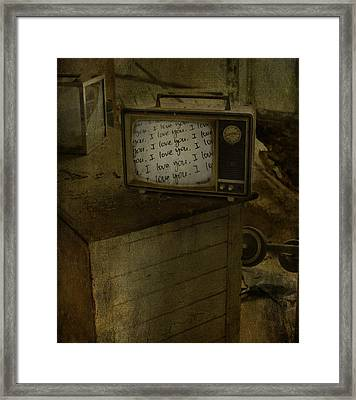 Every Channel Of Love Framed Print by Jerry Cordeiro