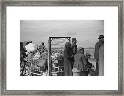 Evicted African-american Sharecroppers Framed Print