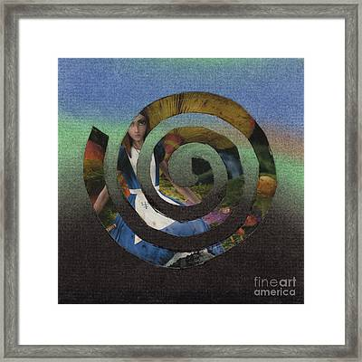 Evil Alice Spiral Framed Print by Christine Perry