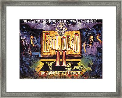 Evil Dead II, Left, Bruce Campbell Framed Print by Everett