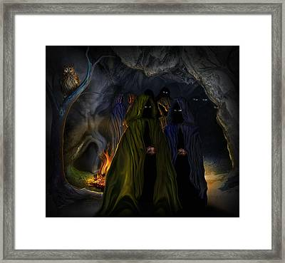Evil Speaking Framed Print by Alessandro Della Pietra