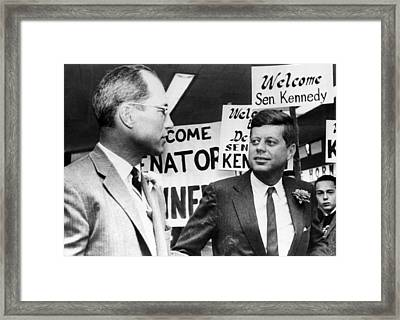 Ex-football Star Byron White, Senator Framed Print by Everett