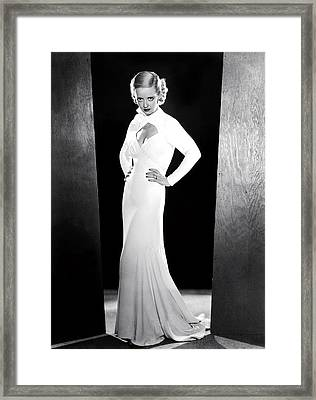 Ex-lady, Bette Davis, 1933 Framed Print by Everett