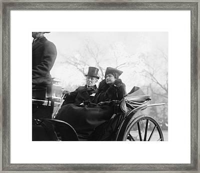 Ex-president Woodrow Wilson 1856-1924 Framed Print