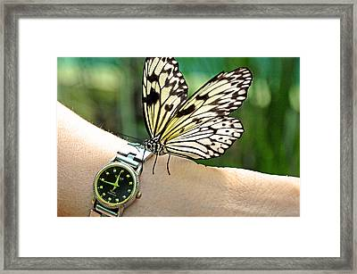 Excuse Me What Time Is It Now Framed Print