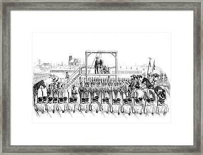 Execution Of John Brown, American Framed Print