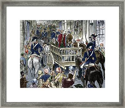 Execution Of Lavoisier, 8 May 1794 Framed Print by Sheila Terry