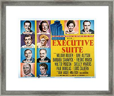 Executive Suite, William Holden, June Framed Print