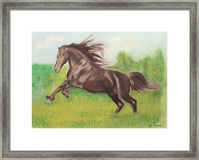 Exercise Framed Print by Miguel Rodriguez