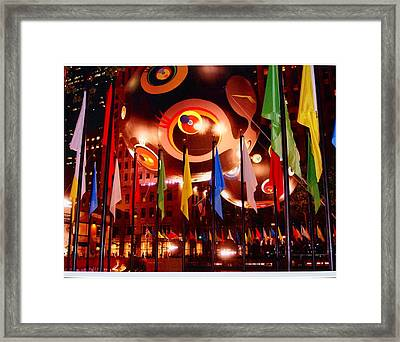 Exhibit At Rockefeller Center Framed Print by Alton  Brothers