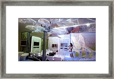 Exhibition Box Framed Print by White Mammoth