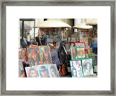 exhibition on the street of Petersburg Framed Print by Yury Bashkin
