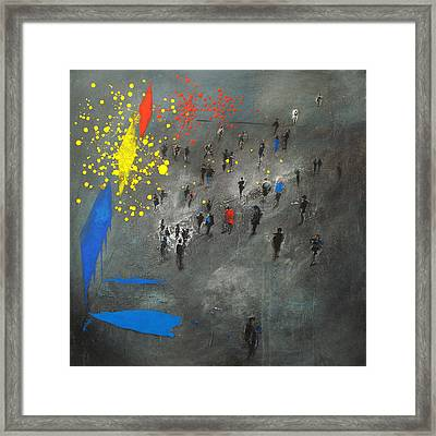 Exhibitionist Paintings Framed Print by Neil McBride